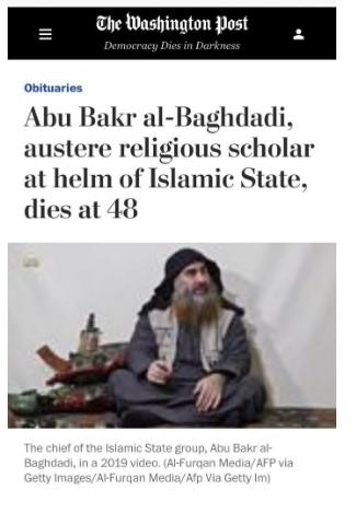 Al Bagdadi Obituary